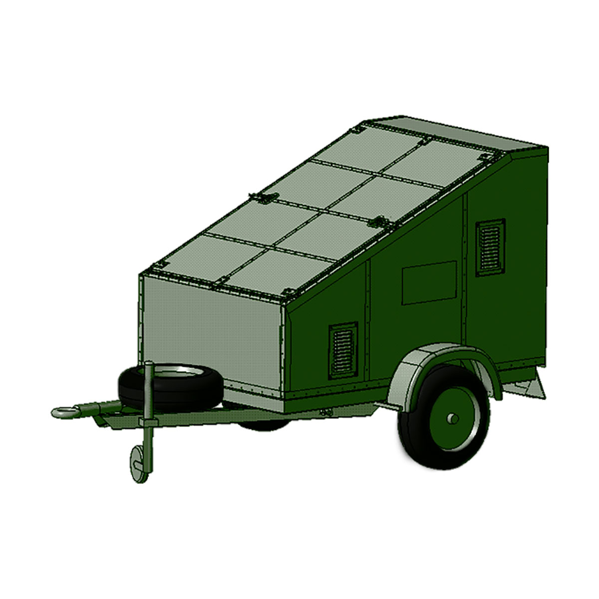 Service truck trolley (for 8 cylinders)